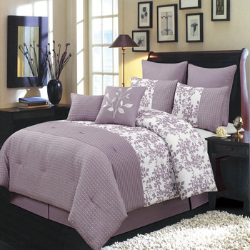 Purple Bliss 6-8-Piece Complete Comforter Sets