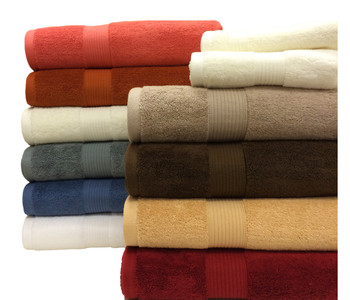100% Plush Cotton 6-Piece Towel Sets by Royal Tradition