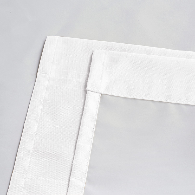 Soho Triple-Pass Thermal Insulated Blackout Curtain Rod Pocket-White-details