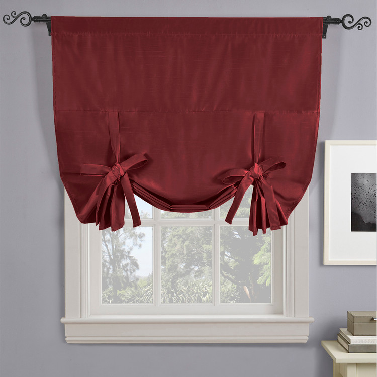 Soho Triple-Pass Thermal Insulated Blackout Curtain Rod Pocket-BURGUNDY