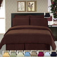 8 Piece Super Soft 100% Microfiber Bed in a Bag Bedding Set