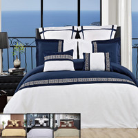 Astrid Embroidered Multi-Piece Duvet Cover Sets Colors Available