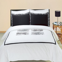 Burbank Embroidered Cotton Multi-Piece Duvet Set