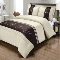 Celeste Cotton Embroidered Duvet Cover Sets Second Image
