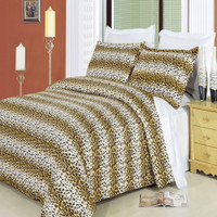 Cheetah 100% Cotton Duvet Cover Set