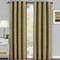 Galleria Room-Darkening Thermal Curtain Panels Tonal Stripe (Single) -Tan(Beige)