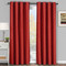 Galleria Room-Darkening Thermal Curtain Panels Tonal Stripe (Single) -Red