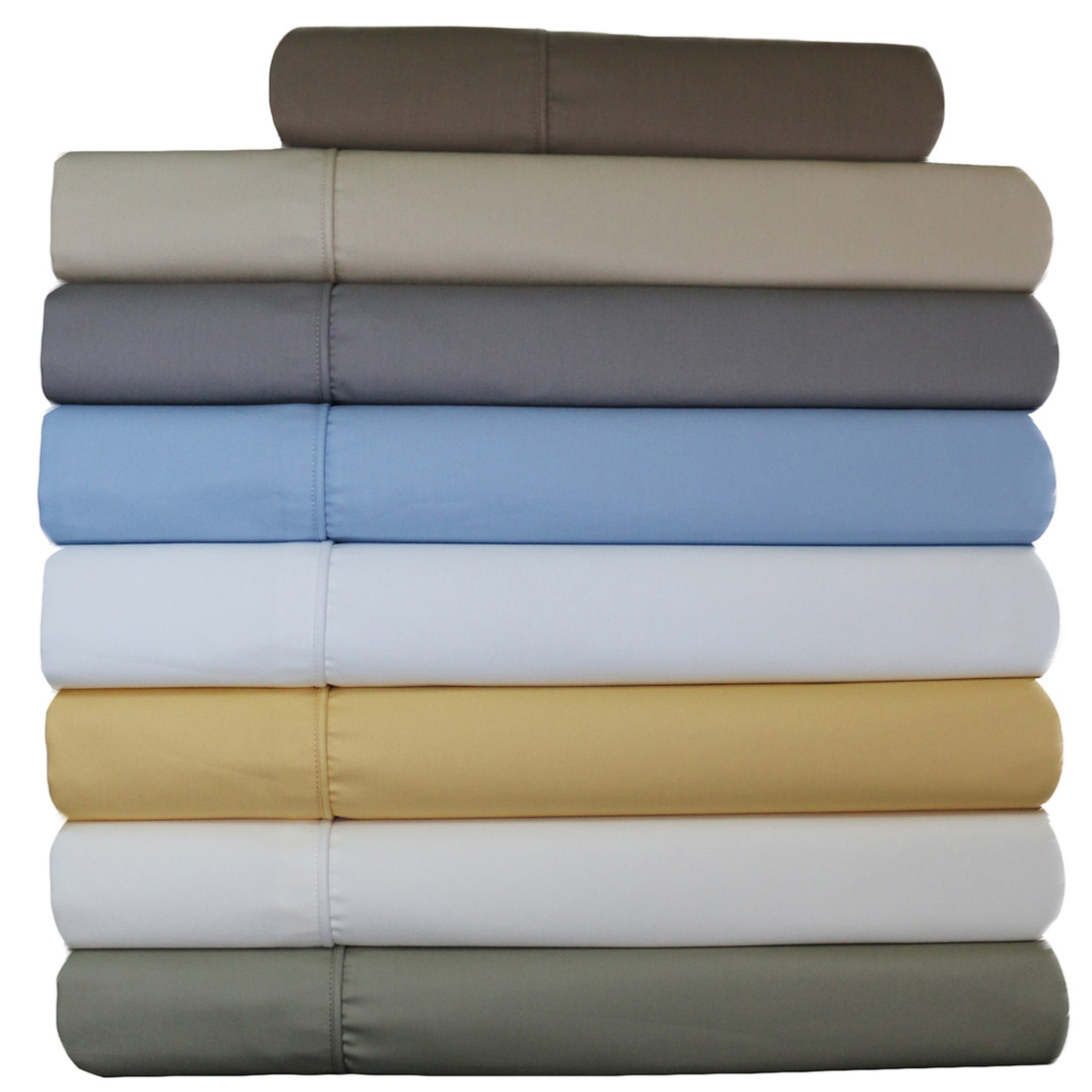Wrinkle-Free Solid 650 Cotton California King & Queen Waterbed Sheets Un-attached /Colors