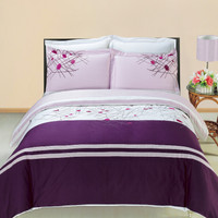Cherry Embroidered Multi-Piece Duvet Cover Sets