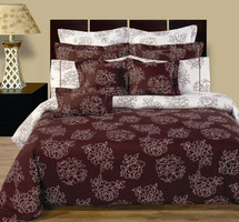 Cloverdale 11-Piece Bed in a bag Reversible 100% Cotton Bedding Set
