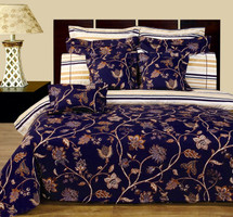 Lilian 11-Piece Bed in a bag 100% Cotton Reversible Bedding Set Front Side