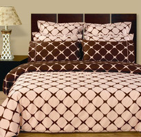 Blush & Chocolate Bloomingdale Multi-Piece Duvet Cover Set