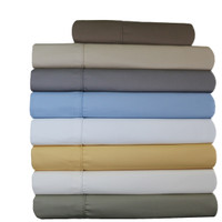 Pillowcases 650TC Solid Wrinkle-Free Combed Cotton (Pair)