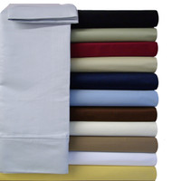 King Or Standard Pillowcases Soft Microfiber Solid (Pair) With Colors
