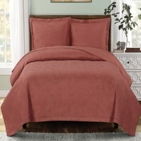 Emerson Oversize Bedspreads & Quilts Coral