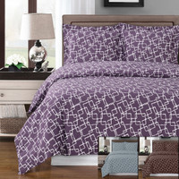 Eva Combed Cotton Duvet Cover Set