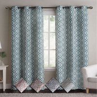 Alexander Blackout Weave Window Curtain Panels With Grommets (Pair) With Colors