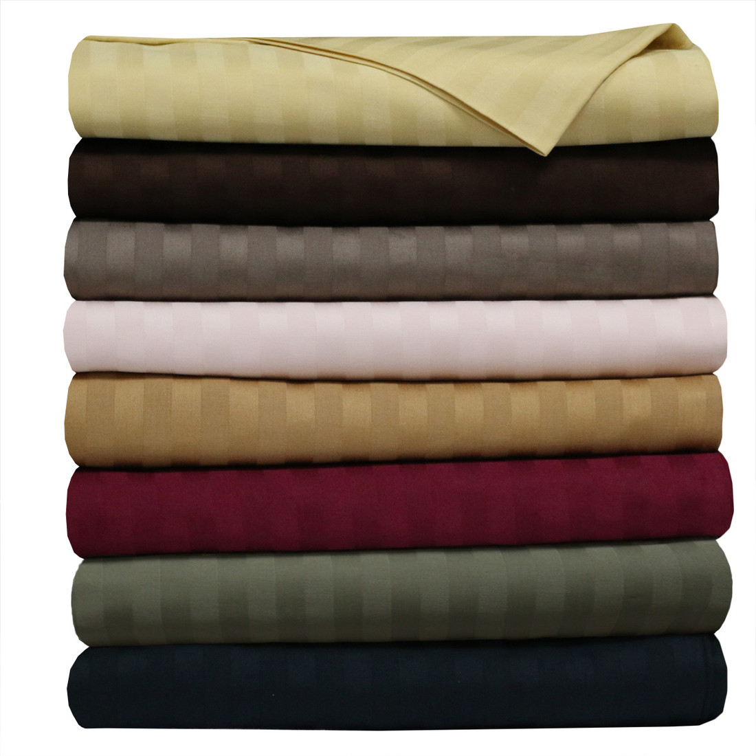 Royal 500 thread count 100 cotton sheet sets striped for What is thread count in sheets