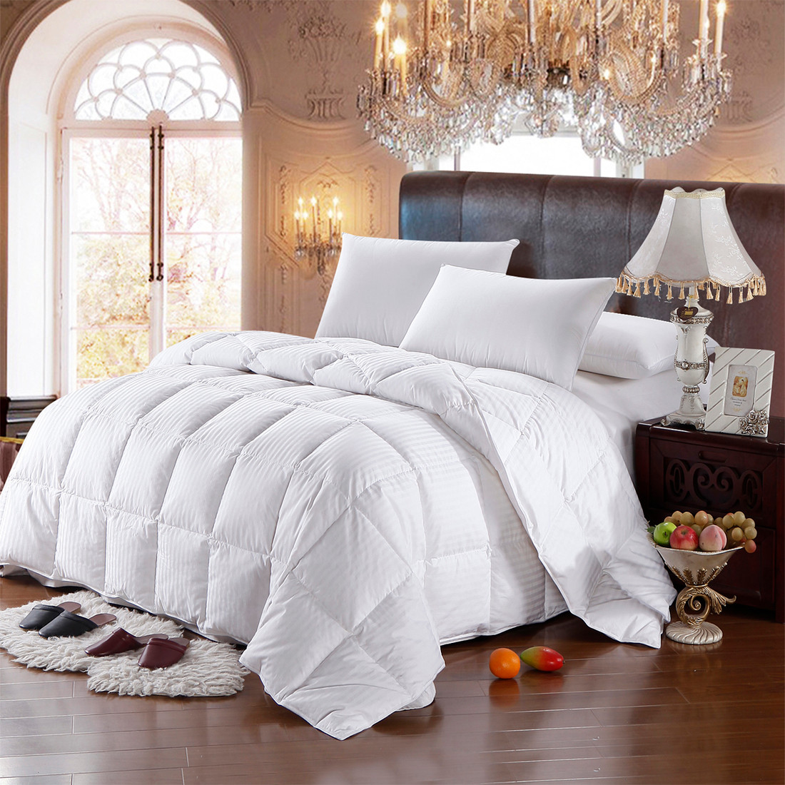 best white goose down comforter queen size. Black Bedroom Furniture Sets. Home Design Ideas