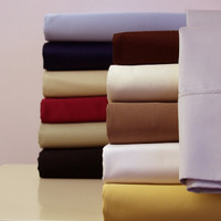 Olympic Queen 100% Cotton Sateen Sheets 300tc Solid Sheet Set With Colors