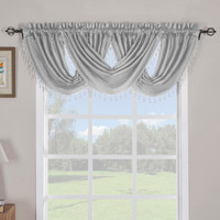 Silver Soho Waterfall Decorative Trim Window Valance (Single)