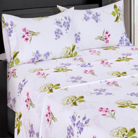 Blossom 300 Thread count 100% Cotton Sheet Sets-closeup