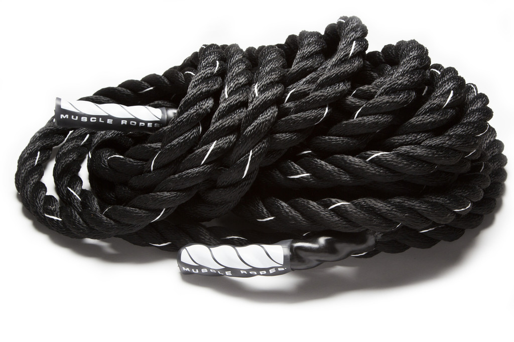 """Black Cyclone 1.75"""" Battle Rope by Muscle Ropes"""