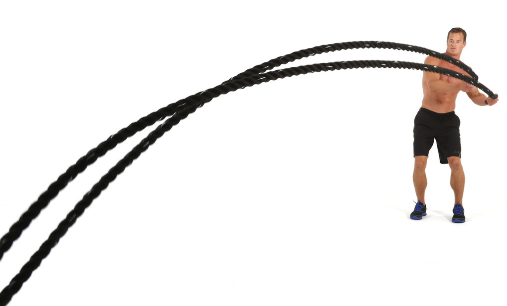 """Black Cyclone 1.5"""" Battle Rope By Muscle Ropes"""