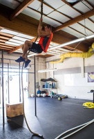 """Climbing 1.5"""" Manila Battle Rope By Muscle Ropes"""