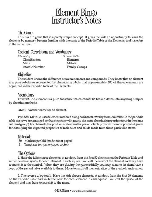 Element bingo pdf home lab activities element bingo pdf image 1 urtaz Image collections
