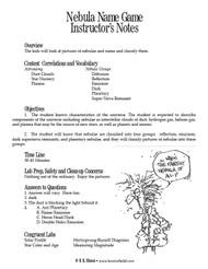 Nebula Name Game PDF