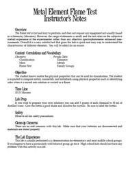 Metal Element Flame Test PDF