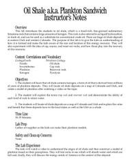 Oil Shale aka Plankton Sandwich PDF