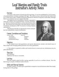 Leaf Margins and Family Traits PDF