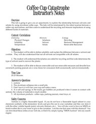 Coffee Cup Catastrophe PDF