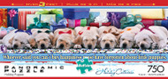 Holiday Puppies 750 Piece Panoramic Jigsaw Puzzle