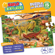 Build & Explore: Dino Adventure 48 Piece Jigsaw Puzzle Box