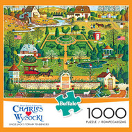 Charles Wysocki Uncle Jack's Topiary Tendencies 1000 Piece Jigsaw Puzzle