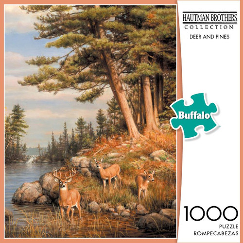 Hautman Brothers Deer and Pines 1000 Piece Jigsaw Puzzle Box