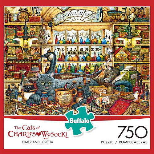 The Cats of Charles Wysocki: Elmer and Loretta 750 Piece Jigsaw Puzzle Box