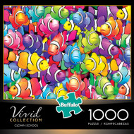 Vivid Clown School 1000 Piece Jigsaw Puzzle Box