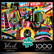Vivid American Pop 1000 Piece Jigsaw Puzzle Box