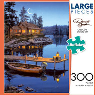 Darrell Bush Crescent Moon Bay 300 Large Piece Jigsaw Puzzle Box