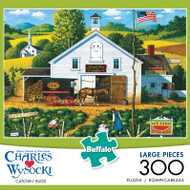 Charles Wysocki Catchin' Bugs 300 Large Piece Jigsaw Puzzle Box