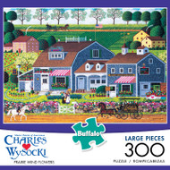 Charles Wysocki Prairie Wind Flowers 300 Large Piece Jigsaw Puzzle Box