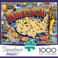 Signature Collection Vintage America 1000 Piece Jigsaw Puzzle Box