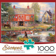 Escapes by Chuck Pinson Reflections on Country Living 1000 Piece Jigsaw Puzzle Box