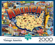 Vintage America 2000 Piece Jigsaw Puzzle