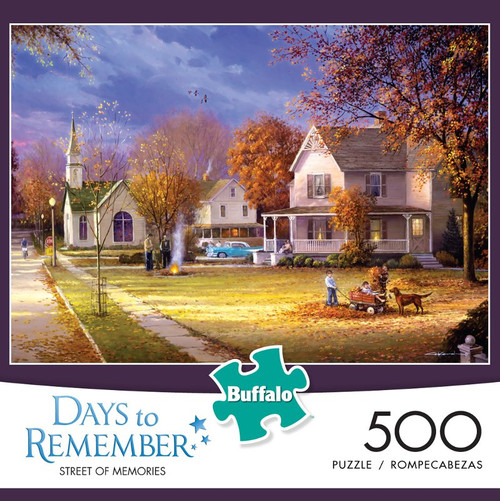 Days to Remember Street of Memories 500 Piece Jigsaw Puzzle Box