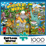 Cartoon World Wonders of the World 1000 Piece Jigsaw Puzzle